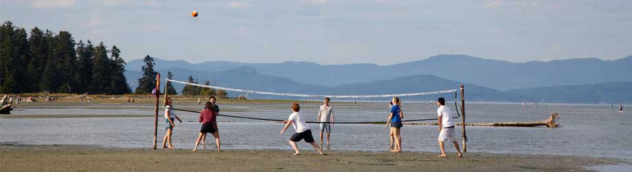 Volleyball Madrona Beach Resort Parksille Vancouver Island